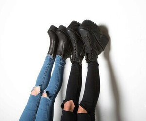 shoes, jeans, and black image