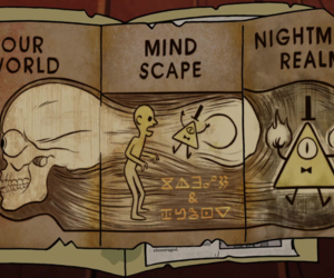 gravity falls, bill cipher, and journal 3 image
