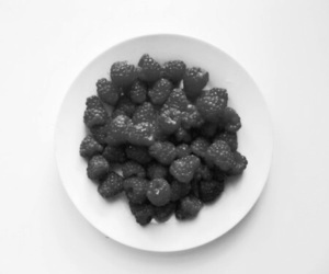 berries, fruit, and black and white image
