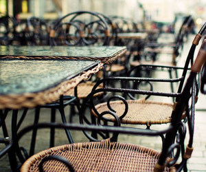 cafe, chair, and photography image