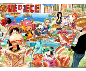 anime, straw hats, and color image