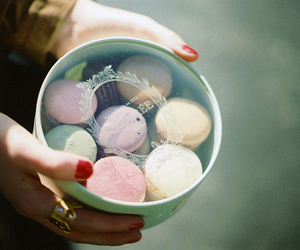 macaroons, vintage, and food image