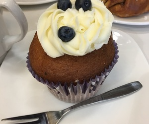 blueberry, cupcake, and delicious image