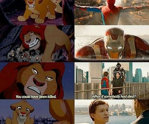 spiderman, homecoming, and lion king image