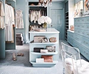 closet, blue, and clothes image