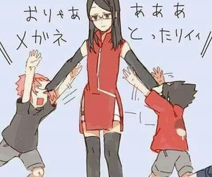 anime, sasusaku, and sarada image