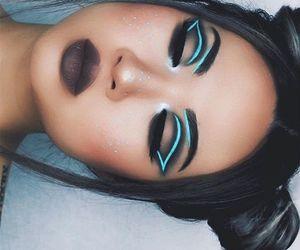 makeup! neon pretty image