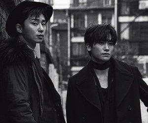 korean actor, park seo joon, and park hyun sik image