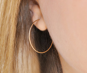 etsy, gold earrings, and gold hoops image
