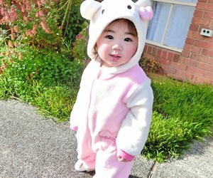 adorable, asian, and baby image