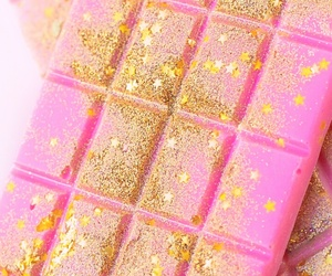 pink, chocolate, and glitter image