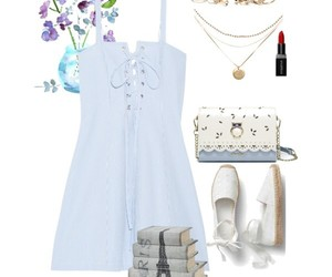 blue, dress, and Polyvore image