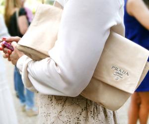 fashion, Prada, and clutch image