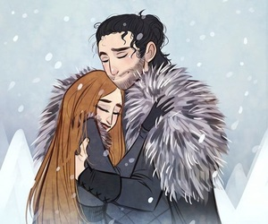 winter is coming, beautiful red hair girl, and king in the north image