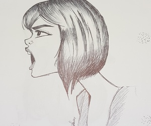sketch, yelling, and pen only image