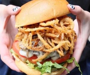 burger, yum, and food image