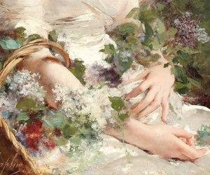 art, basket, and hands image