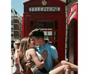 couple, kiss, and london image