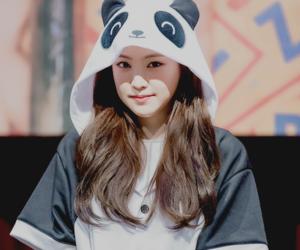 hayoung, naeun, and a pink image