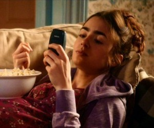 lily collins, love rosie, and girl image