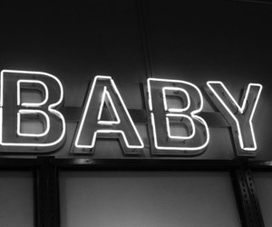 baby, neon, and light image