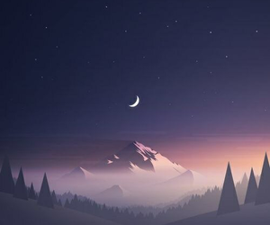 wallpaper, night, and moon image