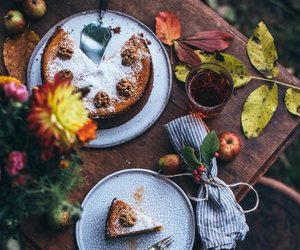autumn and cake image