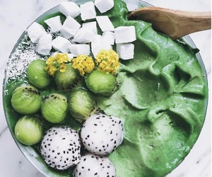 fruit, green, and smoothie image