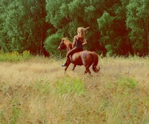 girl, horse, and beautiful image
