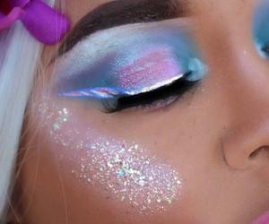 glitter, moda, and ojos image