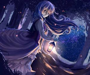 anime, night, and cute image