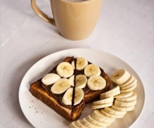 food, toast, and bannana image