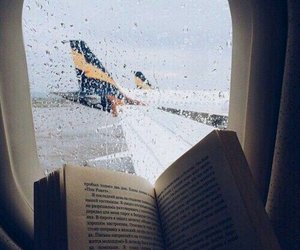 airplane, book, and wins image