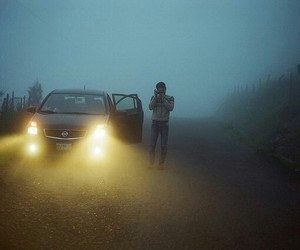 car and fog image
