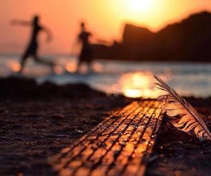beach, bokeh, and light image