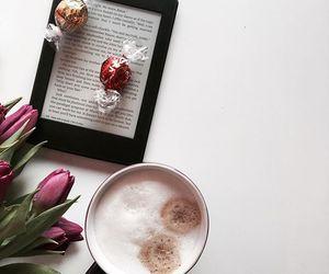 chocolate, coffee, and kindle image