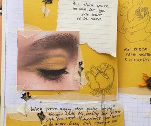 aesthetic, notes, and yellow image