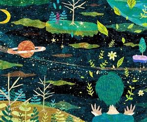 art, illustration, and astrology image