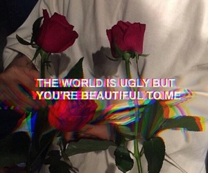quotes, grunge, and rose image