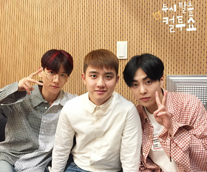 baekhyun, xiumin, and exo image