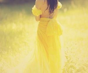 beauty, sunlight, and yellow image