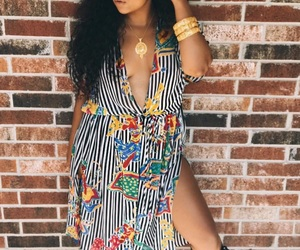 curly, gold, and sandals image