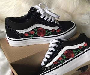 aesthetic, rose, and vans image
