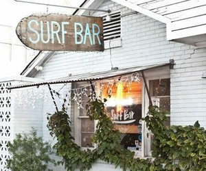 surf, summer, and bar image