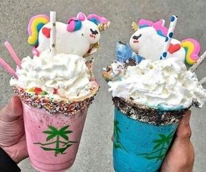 unicorn, food, and milkshake image