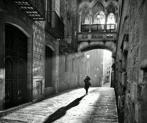 black and white, Barcelona, and black & white image