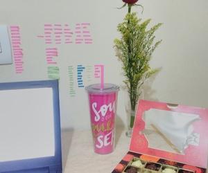 barbie, desk, and pink image