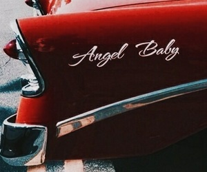 red, car, and vintage image