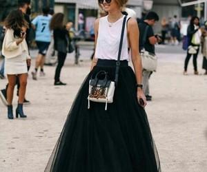 bag, black & white, and bolso image