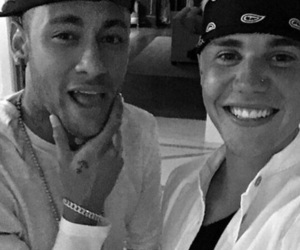 justin bieber, smile, and neymar image